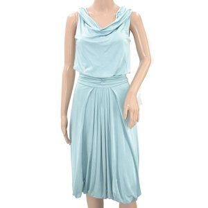Alberta Ferretti Seafoam Blue Bubble Hem Dress 4